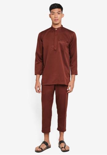Klozet Kuala Lumpur 紅色 Baju Melayu Regular Ghazal套裝 BE961AAE97EF8EGS_1