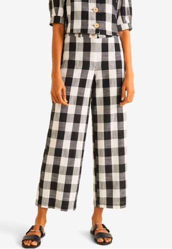 53462f4d3bfd Buy Mango Check Cotton Trousers Online on ZALORA Singapore