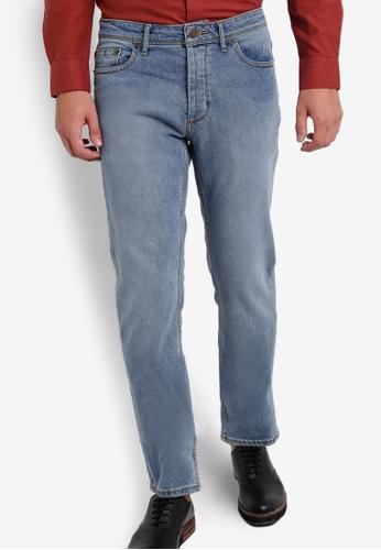 Burton Menswear London blue Light Wash Vintage Jeans BU964AA55NEIMY_1