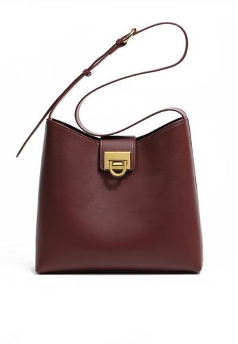 Twenty Eight Shoes red VANSA Leather Crossbody Bucket Bag VBW-Cb09201 E930FAC8217FFFGS_1