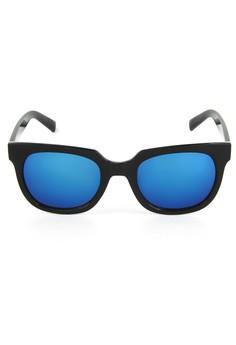 Newyork Army 8042 Black Retro Square Sunglasses