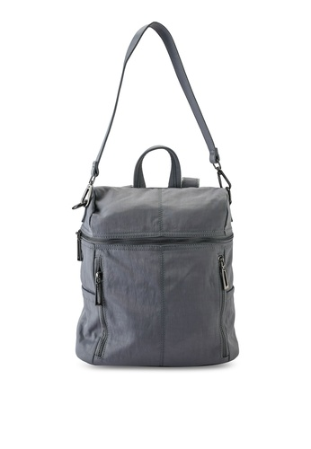 NUVEAU grey Oxford Nylon Backpack FD535ACCC12D83GS_1