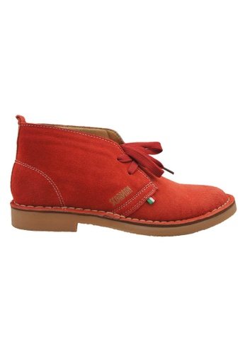 midzone red Suede Leather Sneaker MI949SH36XBVMY_1