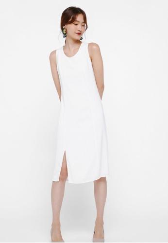 Love, Bonito white Maldora Piping Column Dress 938BCAAF25054AGS_1