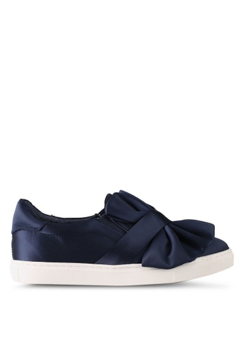 House of Avenues navy Origami Slip Ons 5BC3CSHEFB49F0GS_1
