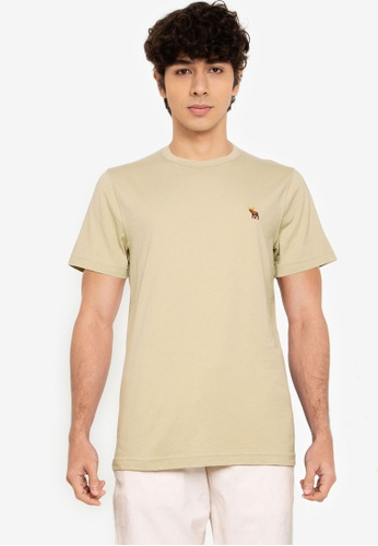 Abercrombie & Fitch green Icon Crew T-Shirt 13134AABD4006DGS_1