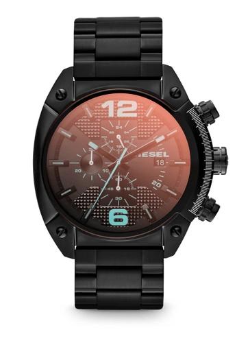 Diesel black Black/Black Diesel Overflow DZ4316 Watch DI095AC16FTJSG_1