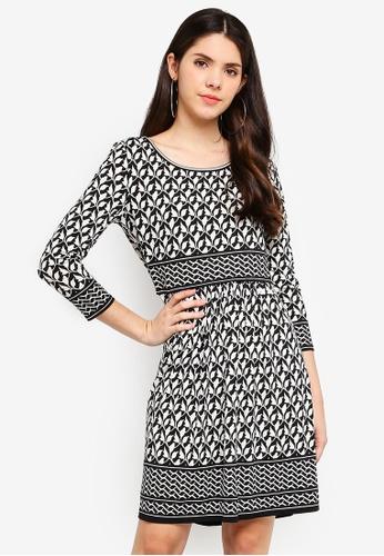 Max Studio white and multi Printed Matte Jersey Dress 2F56BAA6226CCCGS_1