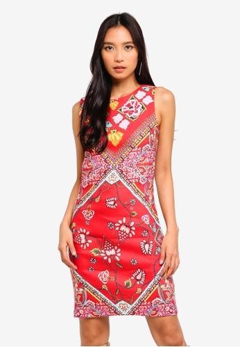 Desigual red Red Patch Foulard Dress EB8D3AAAAA4E38GS_1