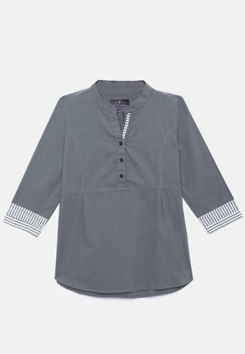 ZALZA grey 100% Organic Cotton Lio Girls Fashion Top - Moon missed AD764KA5C98F7BGS_1