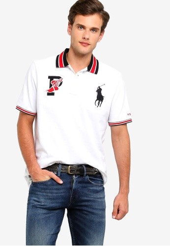 dc5d2c05 Polo Ralph Lauren white Knit Custom Fit Basic Mesh Polo Shirt  2FB97AAE85D892GS_1