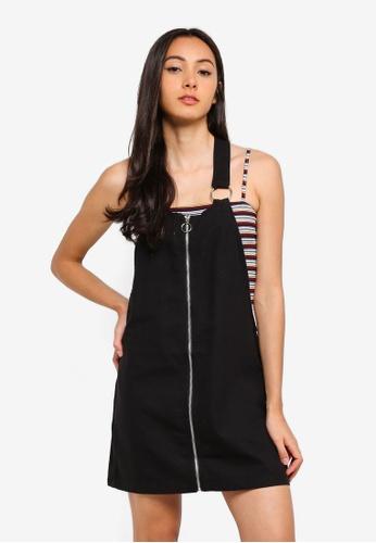 Factorie black Zip Front Dress DE337AAEFA51BAGS_1