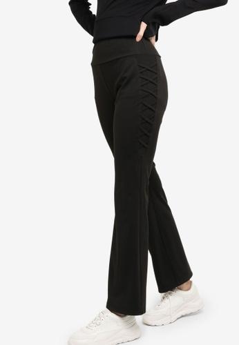 Zalia black Active Flare Cut Pants 14F0AAA6217AFDGS_1