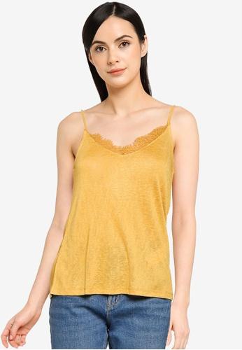 Springfield yellow Cami Top CEB4EAAC931F68GS_1