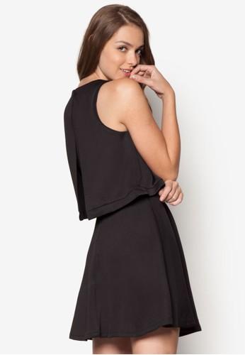 背開叉層次傘擺洋裝、 服飾、 洋裝SomethingBorrowed背開叉層次傘擺洋裝最新折價