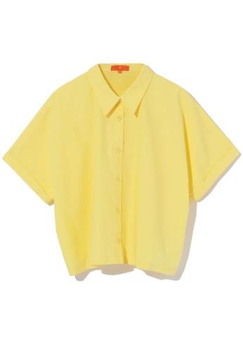 tout à coup yellow Cuff sleeve shirt 0AE03AAED48111GS_1