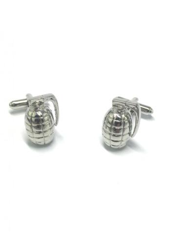 Splice Cufflinks silver Silver Grenade Cufflinks SP744AC73FUSSG_1