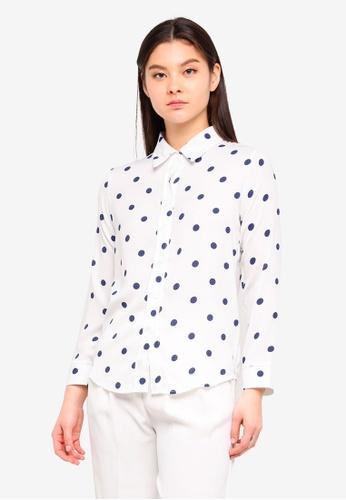 Tokichoi white Polka Dot Shirt 745A2AA8070057GS_1