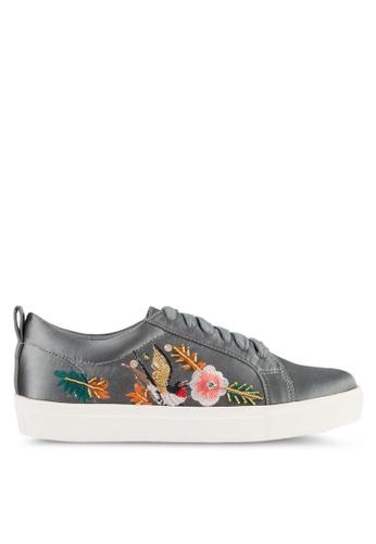ZALORA grey Embroidered & Sequin Sneakers 409B5ZZC62F637GS_1