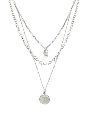 Pieces silver Pcjialania Combi Necklace A00E7ACA0FF772GS_1