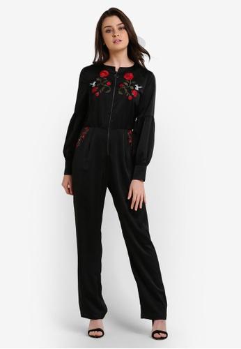 Zalia black Embroidered Jumpsuit 464F9AA2532DC7GS_1