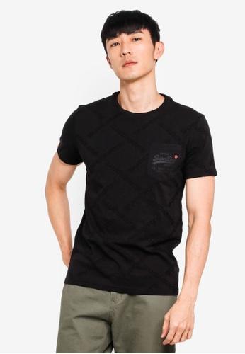 Superdry 黑色 International Print T恤 7691FAA60ED88DGS_1