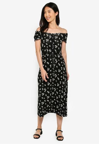 32c953999b54 Buy Dorothy Perkins Black Ruched Jersey Midi Dress Online   ZALORA Malaysia