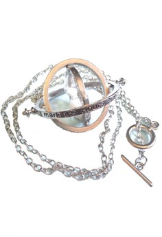Hermione's Time Turner Silver Rotating Harry Potter