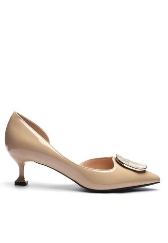 Twenty Eight Shoes 方扣漆皮空幫高踭鞋6203-47 A6EB8SH89158A3GS_1