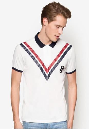撞色V 字條紋POLO 衫, 服飾,esprit taiwan Polo衫