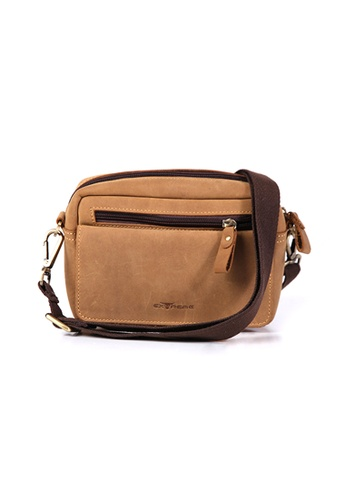 EXTREME brown Extreme Leather Sling Belt Pouch Bag D35A8AC347D503GS_1