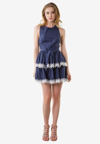 NOBASIC blue Grace Sexy Mini Dress 66691AA6E237A7GS_1