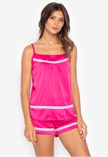 moondaze pink Layla 100% Charmeuse Satin Sleepwear Set BD629AAAC43E43GS_1