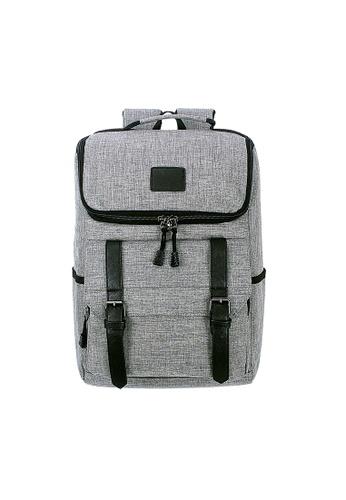 A FRENZ grey Vintage College Laptop Backpack EA263ACF0CC0B2GS_1
