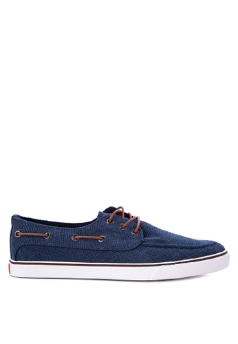 Italianos blue Jerry Boat Shoes IT153SH39BKAPH_1