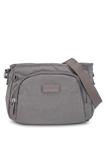Bagstationz brown Crinkled Nylon Sling Bag FE620ACDB3380CGS_1