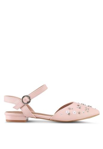 VINCCI pink Strappy Flats 336E7SHB571D3BGS_1