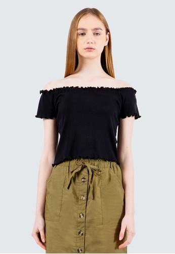 COLORBOX black OFF Shoulder Top E85BEAA2AA7AB5GS_1