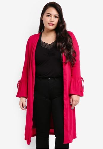 Junarose red Plus Size Noora Cardigan 1DF2DAAB5A08FBGS_1
