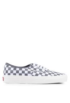 4483f3e2b VANS grey Authentic Checkerboard Sneakers 371F9SHA6BEC87GS_1