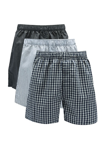 Old Navy navy 3 Pack Woven Boxers FEB7DUS9C166D0GS_1
