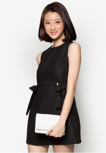 esprit 香港 outlet側蝴蝶結小洋裝, 服飾, 洋裝