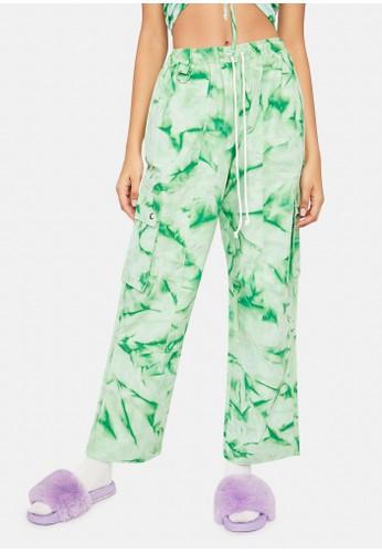 Cute Mistake green Tie Dye Cargo Pants - Peppermint 0C6A7AA51B1970GS_1