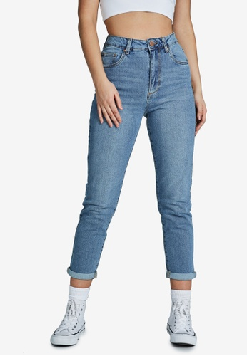Cotton On blue Stretch Mom Jeans 3013BAA73FE2A0GS_1