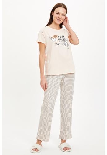 DeFacto pink Woman 2-pieces Homewear Top & Bottom Set 06C15AA716D37DGS_1