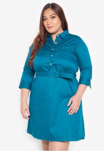 Maldita X blue Kiara Plus Size Buttondown Shirt Dress MA587AA0JCIIPH_1