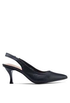 c84fdbae674 Nose black Square Back Slingback Pumps 66DD2SH131E2D2GS 1
