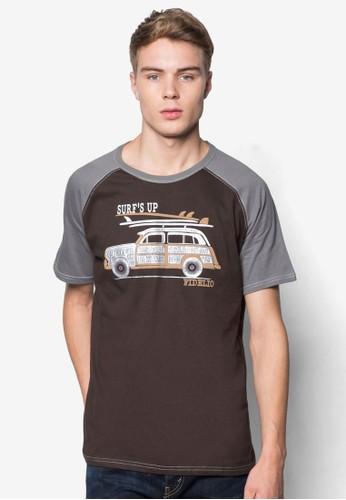 「衝浪去」拉克蘭袖圖案設計TEEesprit outlet 台中, 服飾, T恤