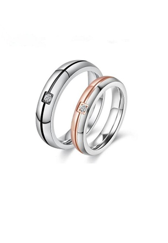 ADORA Stainless Steel Couple Rings AD365AC2VUQ8HK_1