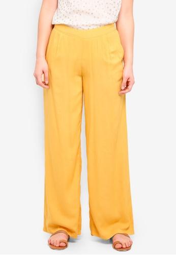 ICHI yellow Dipta Pants 0382EAAF125F5FGS_1